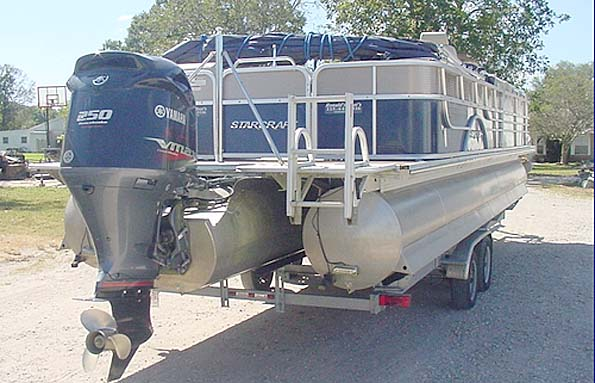 Used  2013 27' Duratech MAJESTIC STARCRAFT TRITOON Pontoon Boat in Gonzales,, Louisiana